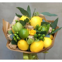 Flower and lemon bouquet Citrus