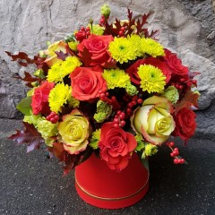Flower arrangement Colourful autumn