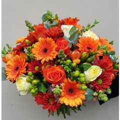 Orange rose and gerbera bouquet