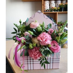 Flower box Pink envelope