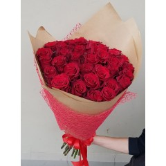 Red rose (50 - 60 cm) bouquet
