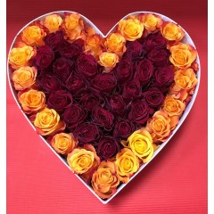 Large hearth box of roses
