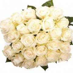 White rose bouquet, a variable number of flowers and length