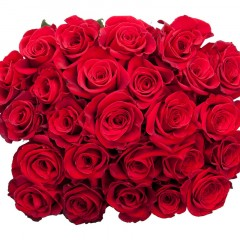 Red rose bouqet (variable number and length of flowers)